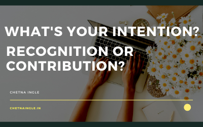 What Is Your Intention ? Recognition or Contribution?